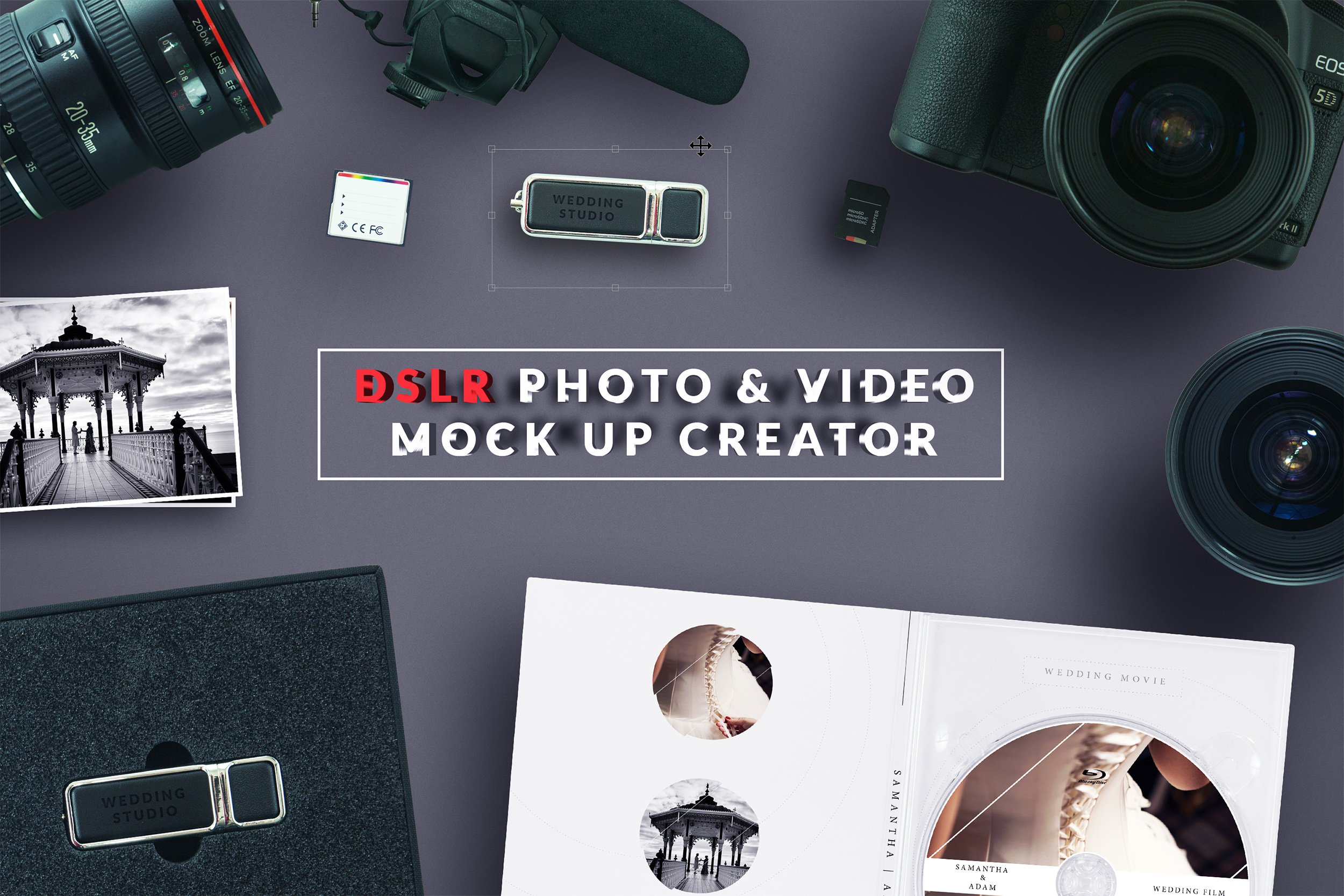 how to create a video background website mockup